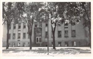 D79/ Pine City Minnesota Mn Real Photo RPPC Postcard c50s Village Hall Building