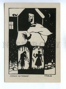 195826 GERMANY Brothers Grimm Mother Hulda silhouette postcard