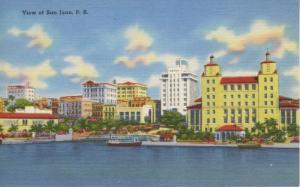 View Of San Juan Puerto Rico Porto Rico Vintage Linen Postcard E5