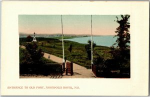 Longfellow Entrance to Old Fort Annapolis Royal NS Vintage Postcard R20