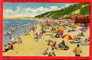 New York Long Island Wildwood State Park Beach Scene