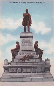 Henry W Grady Monument - Atlanta GA, Georgia - Linen