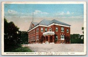 Wickford Rhode Island~Corner Arch Entrance to High School~c1922 Postcard