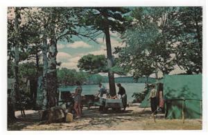 Early View of Camping at Fish Creek, New York