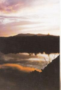 Sunset Pentland Hills from Duddington Loch Mount Fuji Marine Expedition Postcard