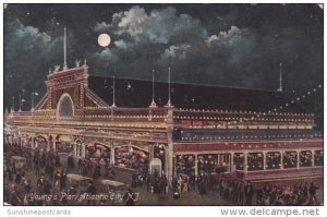 New Jersey Atlantic City Youngs Pier At Night 1910