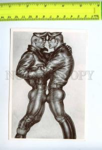 219203 Tom of FINLAND gay theme drawing tattoo old postcard