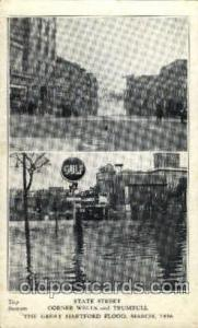 The great Hartford Conn.USA Flood, March, 1936Disaster Disasters, Postcard Po...