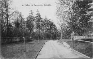 C-1905 Private Postcard Drive Rosedale Toronto Canada Macfarlane postcard 5533