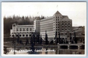 BYRON HARMON RPPC #634 CHATEAU LAKE LOUISE ALONG THE CANADIAN PACIFIC RAILWAY LN