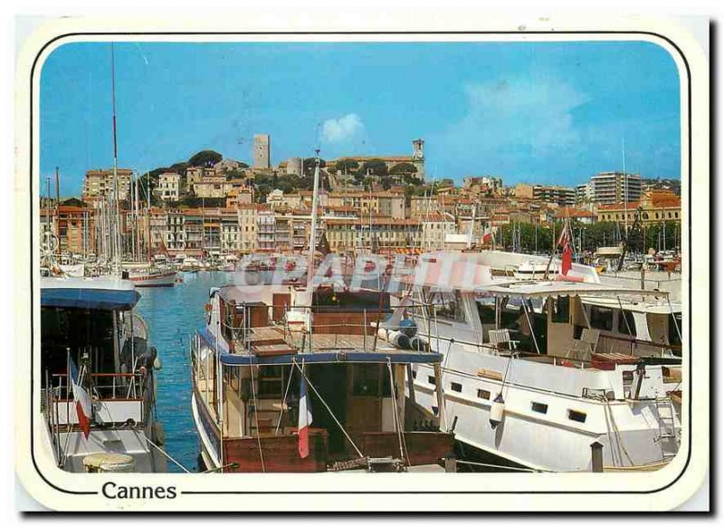Postcard Modern Reflections of the French Riviera Le Suquet Cannes Vieux Port