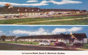 MONTREAL, Quebec, Canada, 1940-1960's; 2-Views, Le Lucerne Motel, Route 2