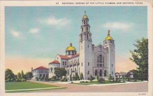 Texas San Antonio National Shrine Of The Little Flower Curteich