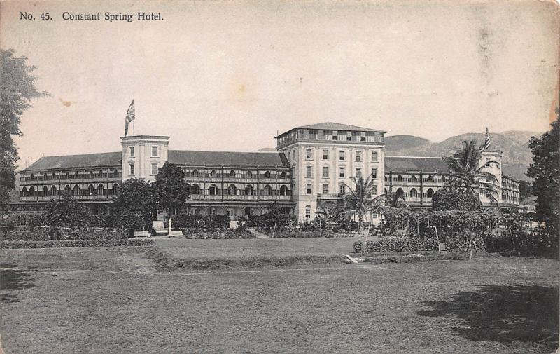 Constant Spring Hotel, Kingston, Jamaica, Early Postcard, Used in 1907
