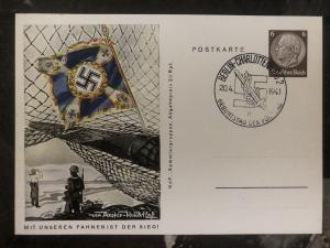 1941 Berlin Germany PS Patriotic Postcard cover navy our flags is the victory