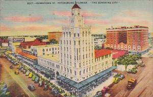 Florida Saint Petersburg Downtown The Sunshine City 1943