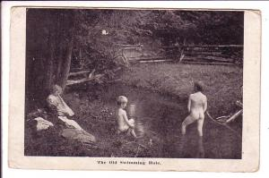 Photo of Baby Girl Watching Two Small Nude Boys Swimming in River, Bayswater ...