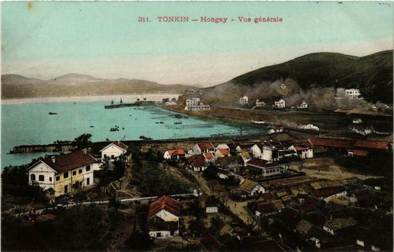 CPA AK TONKIN - HONGAY - Vue générale VIETNAM (715220)