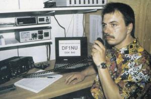 Germany Radio DJ QSL 1970s Postcard