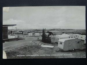 East Sussex HASTINGS Combe Haven Caravan Park THE SITE c1950's RP Postcard