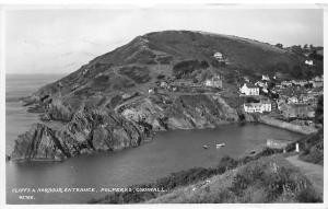 Cornwall, Polperro, Cliffs & Harbour Entrance 1954