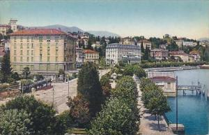 Switzerland Lugano Paradiso col nuovo Quai