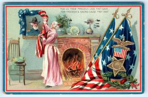 Postcard Patriotic Decoration Day Civil War Lives They Gave Freedom Tucks L16