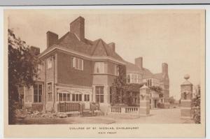 London; College Of St Nicholas, Chislehurst, Main Front PPC Unused, Plain Back