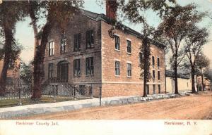 Herkimer New York~Herkimer County Jail (Stone Building)~Unpaved Street~c1905 Pc