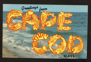 Cape Cod, Massachusetts/MA/Mass Postcard, Greetings From Cape Cod
