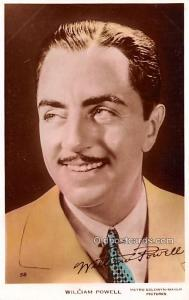 William Powell Movie Star Actor Actress Film Star Postcard, Old Vintage Antiq...
