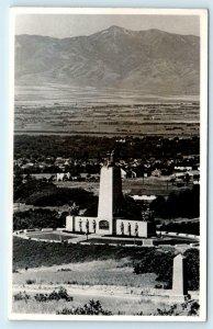 RPPC SALT LAKE CITY, UT Utah THIS is the PLACE MONUMENT c1950s  Postcard