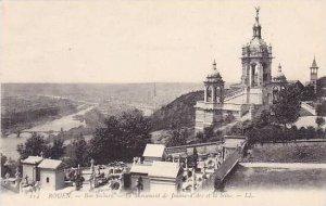 France Rouen Bon Secours Le Monument de Jeanne-d Arc et la Seine