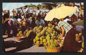 Durian Market Nonburi Thailand unused c1950's