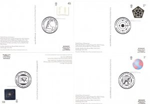 Science Chemistry Nobel Prize Full Set Of 6 PHQ Postcards WITH STAMPS