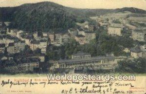 Blick von der Hubertusburg Karlsbad Austria 1904