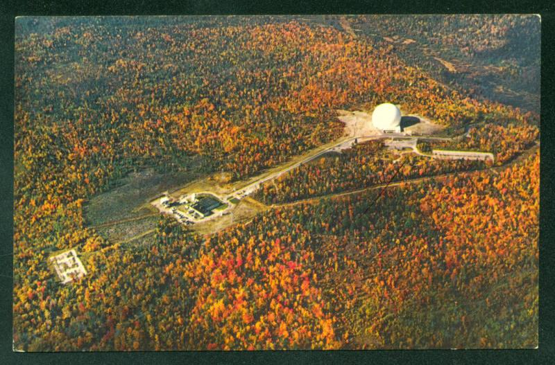 EARTH STATION Andover MAINE SATELLITE ANTENNA Radome AT&T Aerial View Postcard