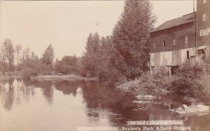 Oregon Albany Bryant's Park Old Mill On Calapooia River Real Photo