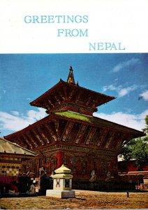Nepal Greetings Showing Changu Narayan Temple