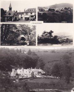 Chagford Devon Holystreet Manor RPC & Multi View 2x Postcard s
