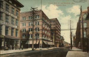 Bridgeport CT Corner of Main & Fairfield 1909 Used Postcard