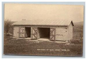 Vintage 1900's Photo Postcard Maplehurst Inn Steel Garage Antrim New Hampshire