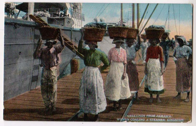 Women Coaling a Steamer, Kingston Jamaica