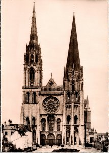 Reims France Cathedral facing West Postcard unused 1960s