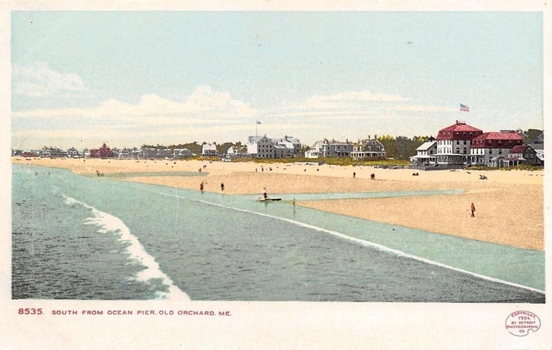 Old Orchard Maine~South From Ocean Pier 1906 Detroit Publishing #8535