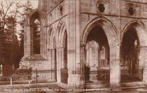 RP: Earl Haig's Resting Place & Sir Walter Scott's Tomb, Dryburgh Abbey, Roxb...