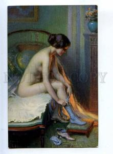 199280 Nude BELLE Lady Mauve stocking by ENJOLRAS SALON LAPINA