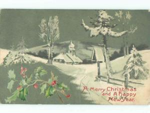 Divided-Back CHRISTMAS SCENE Great Postcard W8582