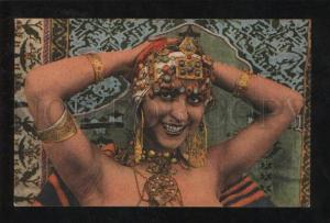 068376 Kabyle BELLY DANCER in HAREM in Jewelry Vintage PC
