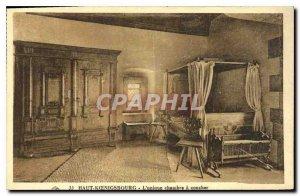 Postcard Old Hochk?nigsburg single bedroom